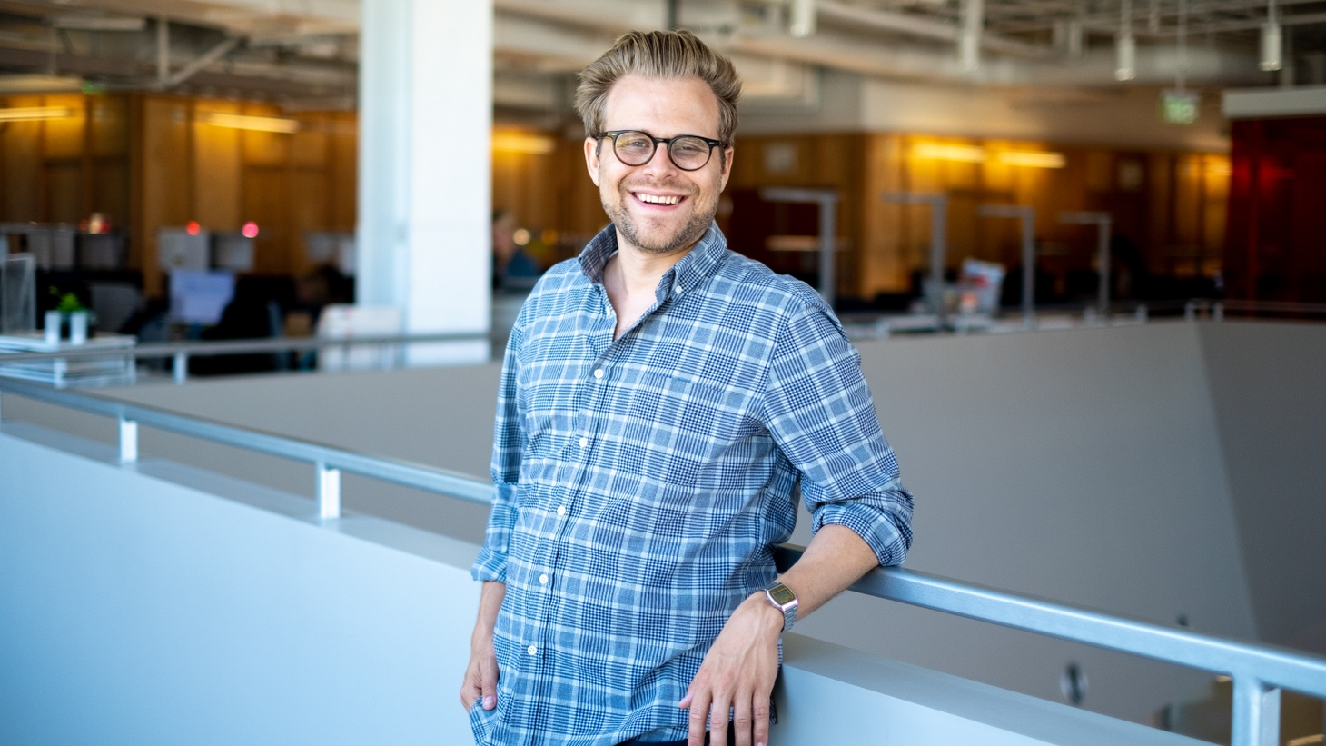 Adam Conover at KCRW, August 13, 2019.
