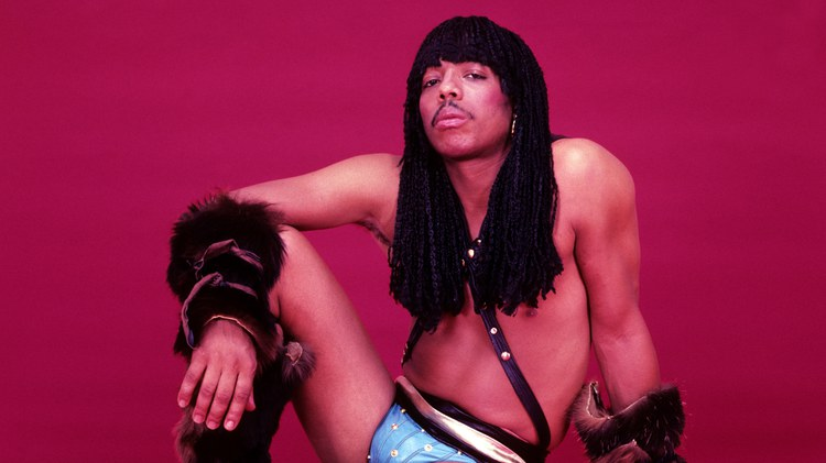 Musician Rick James is a pioneer of the punk-funk genre in the 1970s and 1980s. He held a riveting stage presence with his long braid flying, dressed in spandex and glitter.