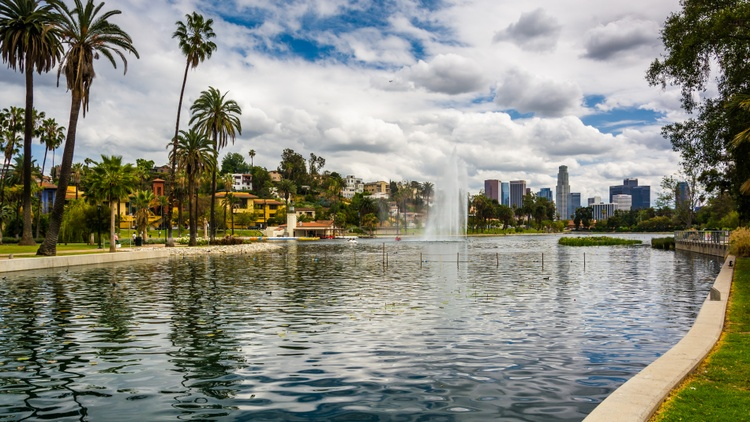 In March, hundreds of people protested the city's decision to remove a homeless encampment along Echo Park Lake.