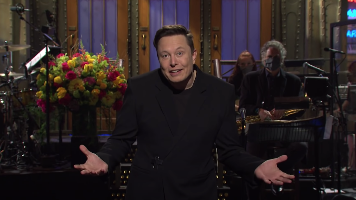 """During Elon Musk's opening monologue on """"Saturday Night Live,"""" he mentioned that he's the first person with Asperger's to host the program."""