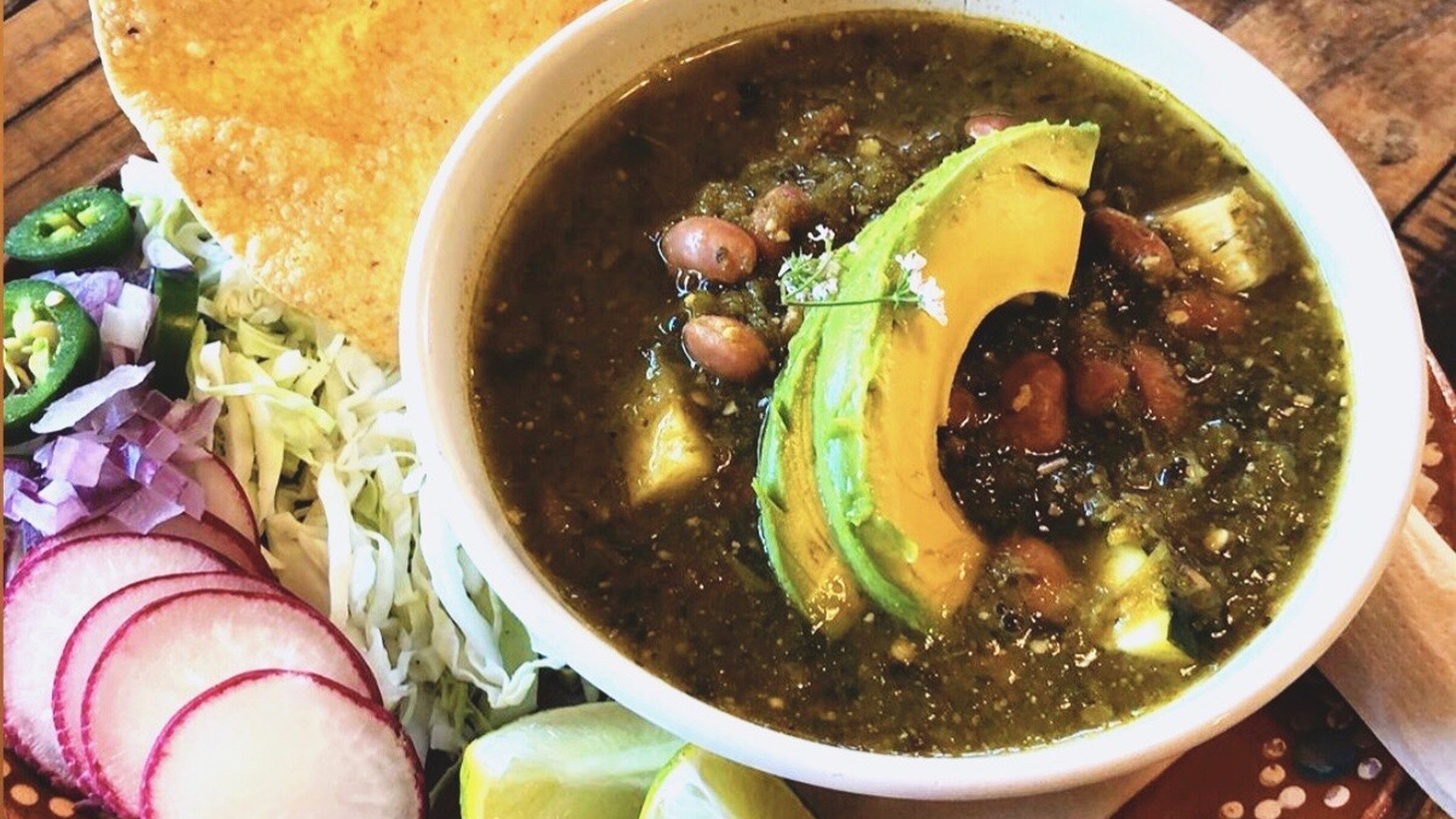 Alta Baja Market offers meal kits for making their pozole at home.