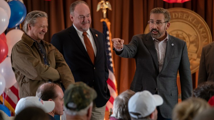 """Critics review """"Irresistible,"""" about a Democratic political consultant who helps a veteran run for mayor in a small Wisconsin town; """"Disclosure,"""" a documentary about the history of…"""