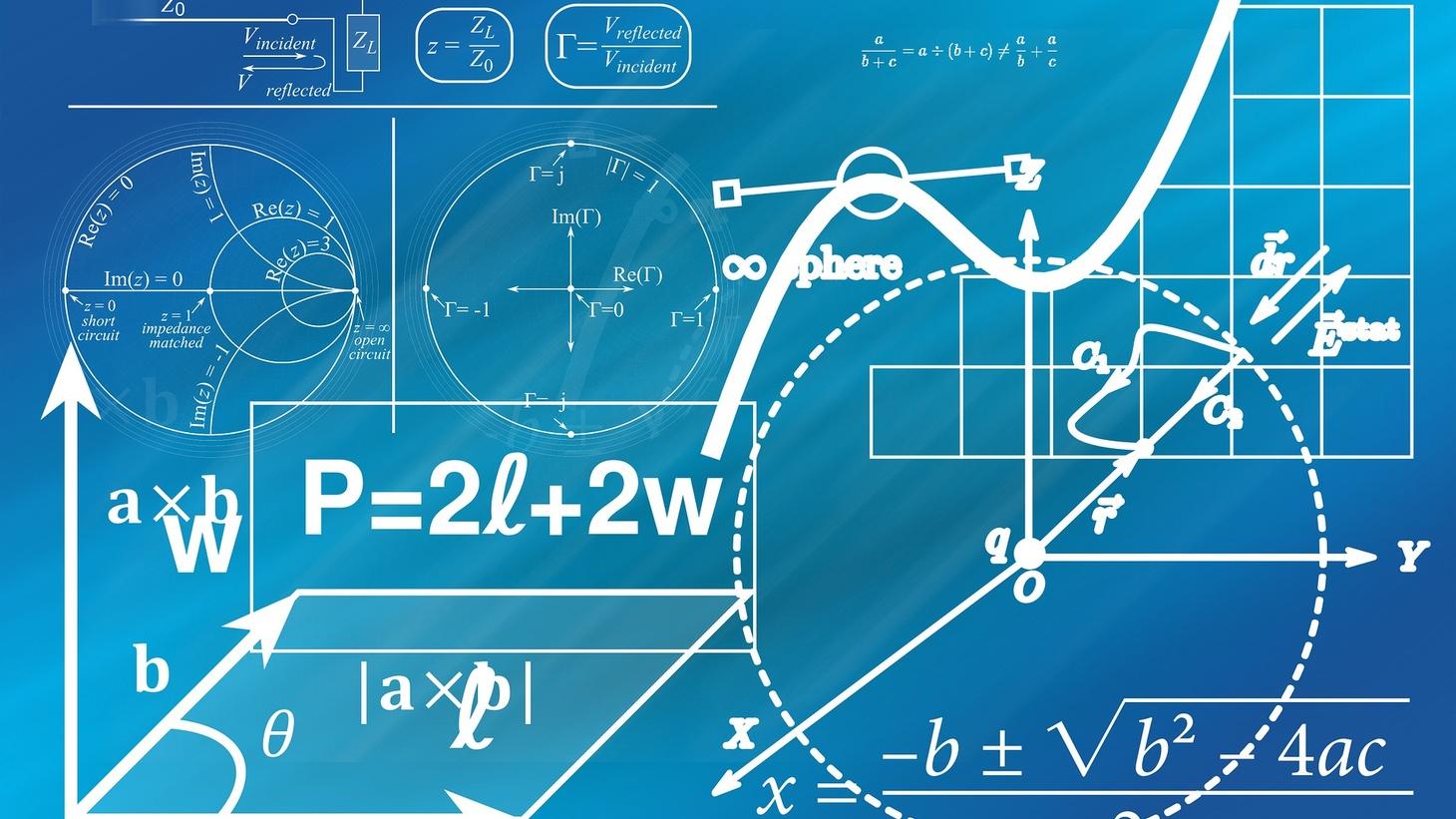 Math formulas and charts.