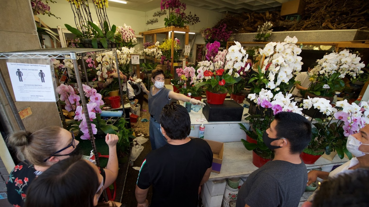Mother's Day 2020 at the LA Flower Market.
