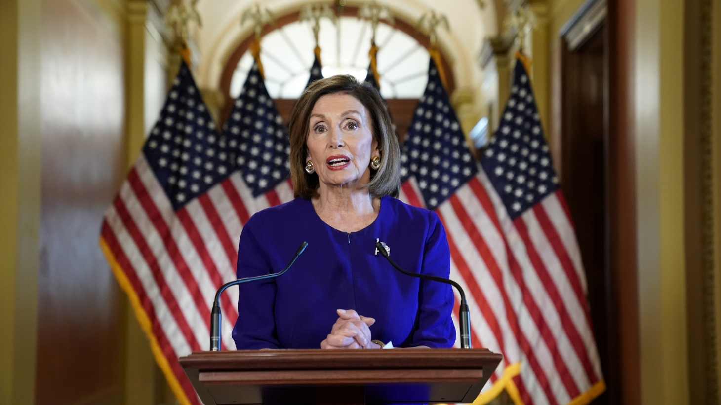 House Speaker Nancy Pelosi (D-CA) announces the House of Representatives will launch a formal inquiry into the impeachment of U.S. President Donald Trump following a closed House Democratic caucus meeting at the U.S. Capitol in Washington, U.S., September 24, 2019.