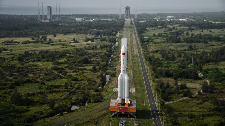"""The 23-ton, 10-story long rocket is currently traveling at about 18,000 miles per hour and is expected to fall in what's called """"an uncontrolled re-entry."""""""