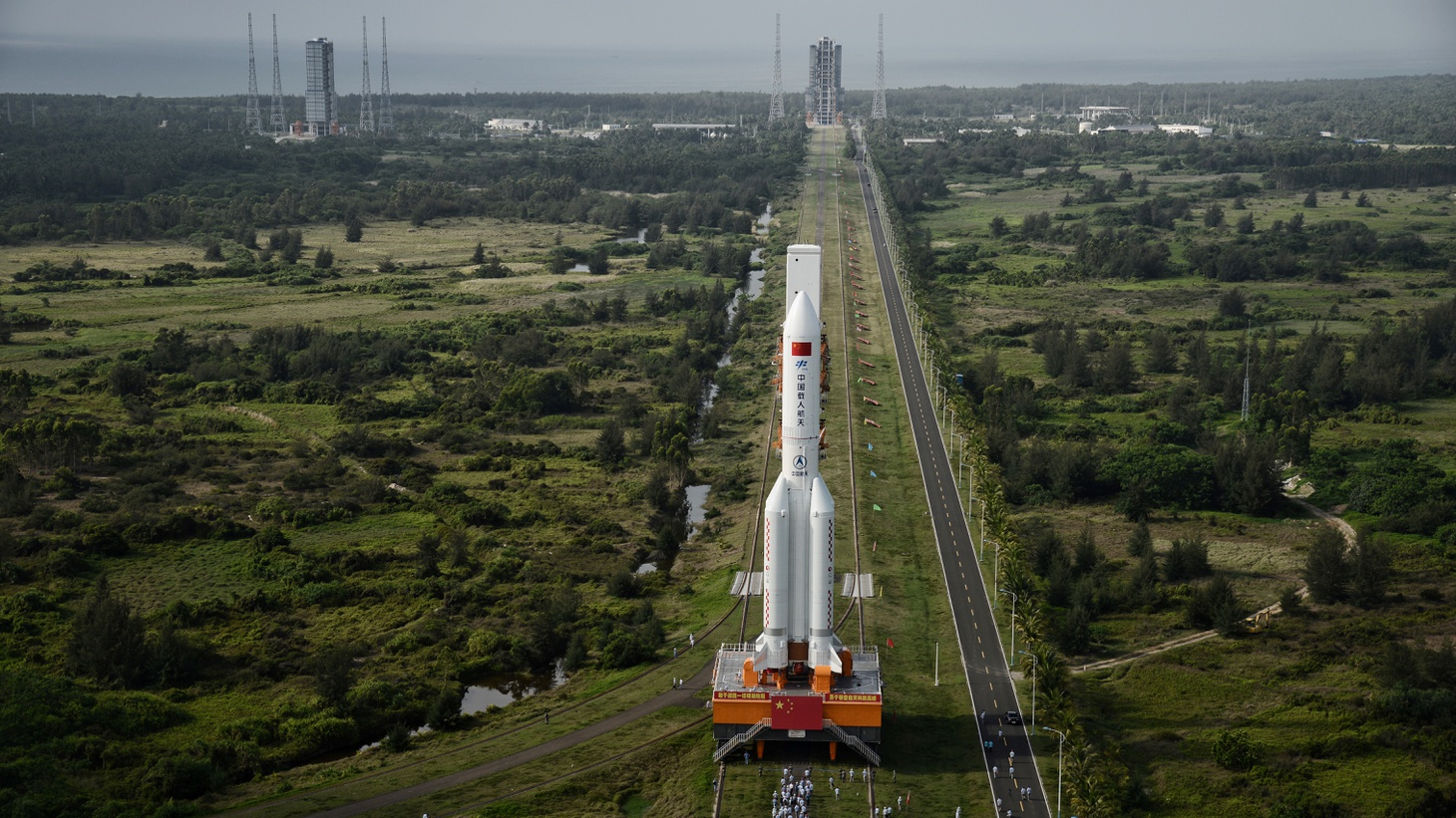 The Long March 5B carrier rocket takes off from Wenchang Space Launch Center in Wenchang, Hainan Province, China, May 5, 2020.