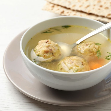 KCRW's Evan Kleiman shares her recipe for matzo balls, a traditional food for this Jewish holiday. She also recommends a recipe for chicken broth.