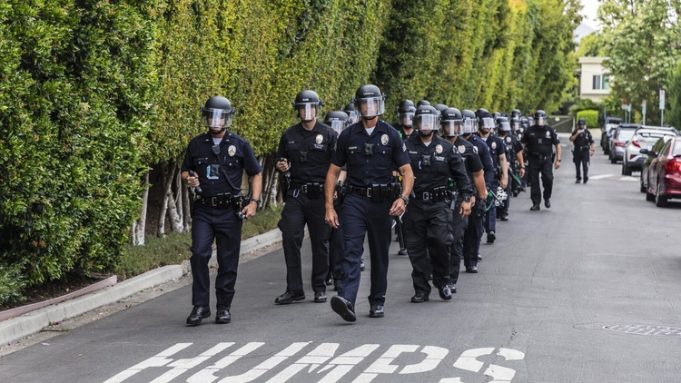 Just one week ago, LA was on track to increase the police department's budget. But city leaders have taken note of nationwide calls to reassess police departments.