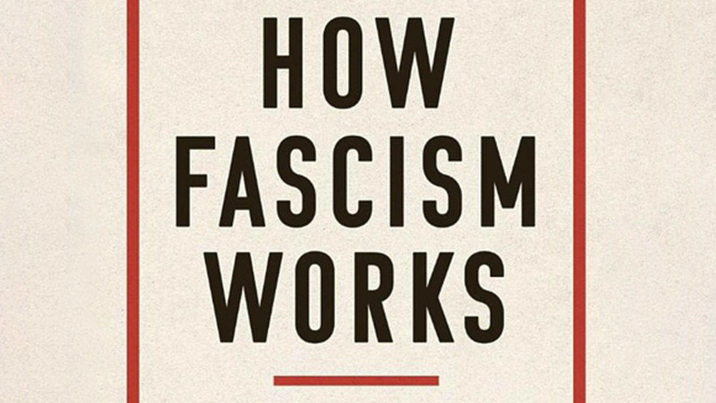 """Jason Stanley is author of the book """"How Fascism Works: The Politics of Us and Them."""""""