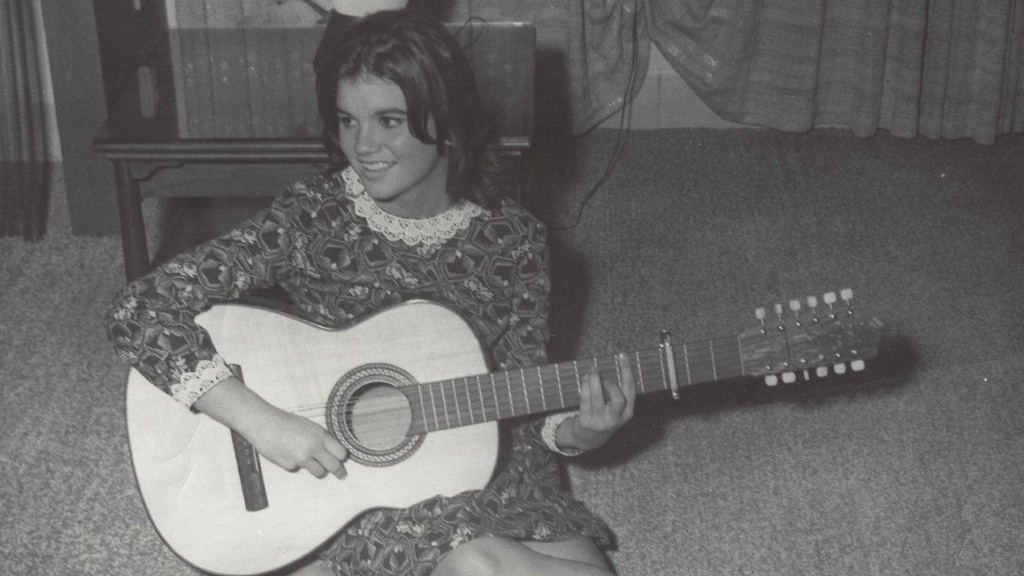 "Linda Ronstadt with a guitar in ""Linda Ronstadt: The Sound of My Voice."""