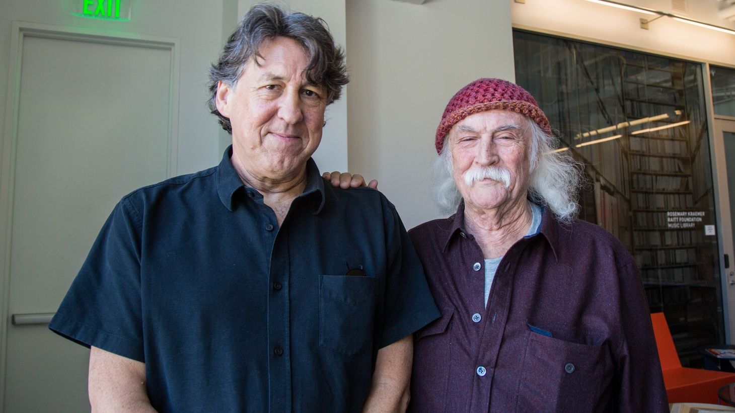 Cameron Crowe and David Cosby at KCRW.