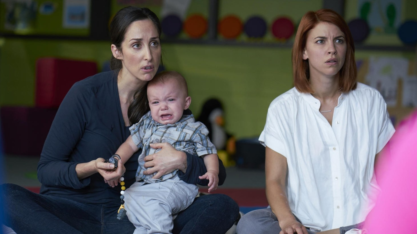 "A scene from ""Workin' Moms."""
