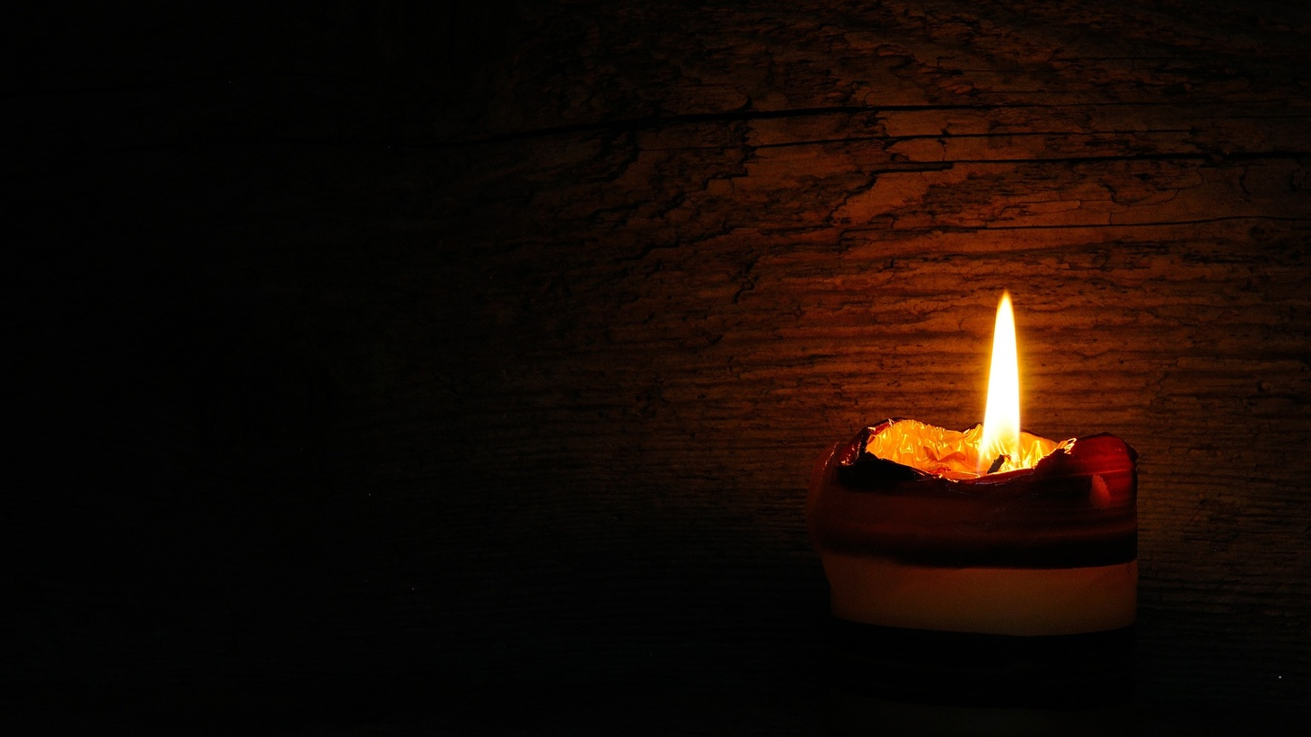 A candle flame.