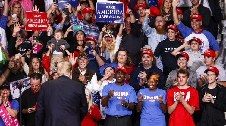 "President Donald Trump was at a campaign rally in North Carolina Wednesday, basking in chants of ""send her back."""