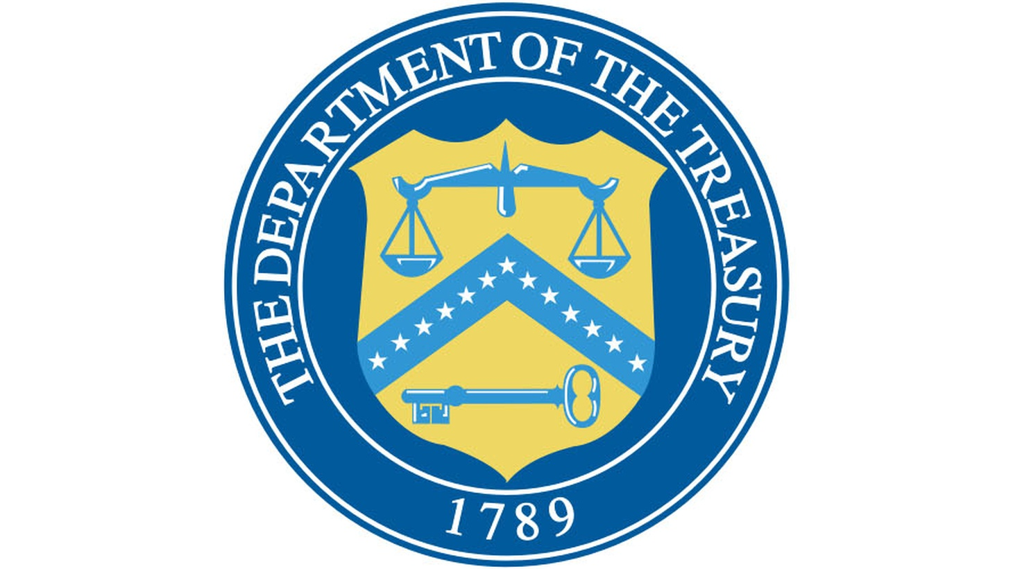 Seal of the United States Department of the Treasury.