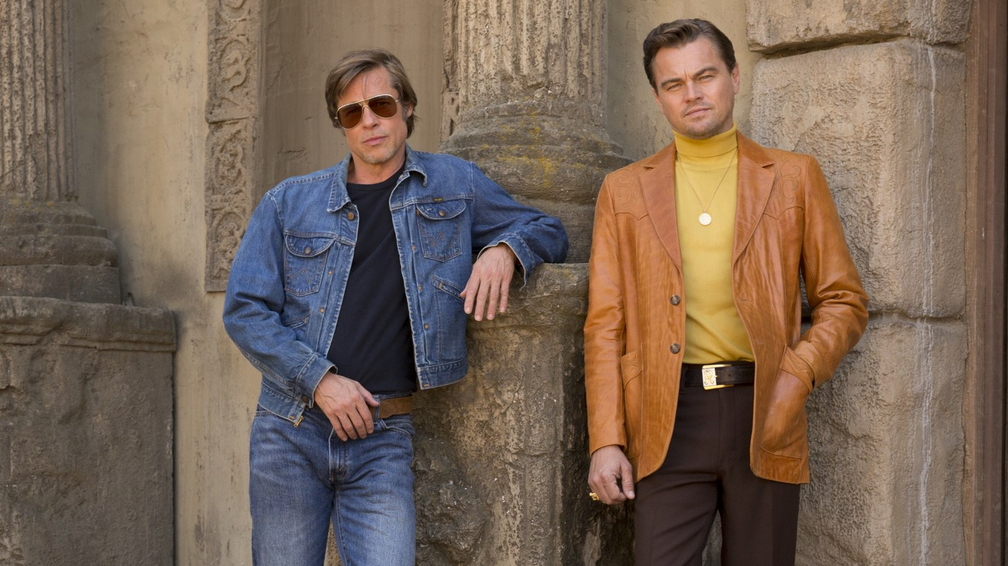 "Brad Pitt and Leonardo DiCaprio star in ""Once Upon a Time in Hollywood."""