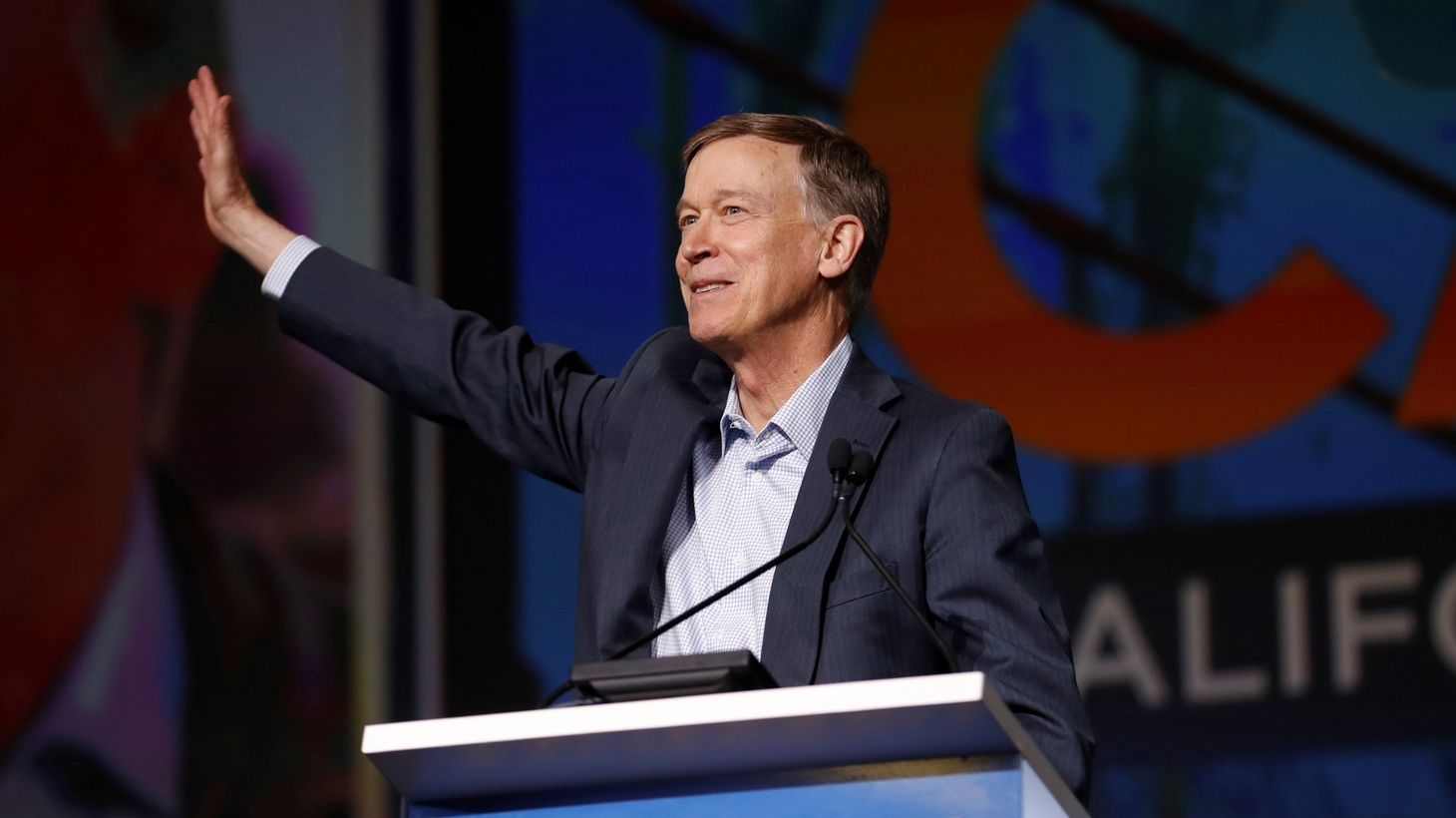 Democratic presidential candidate and former Colorado governor John Hickenlooper speaks during the California Democratic Convention in San Francisco, California, U.S. June 1, 2019.
