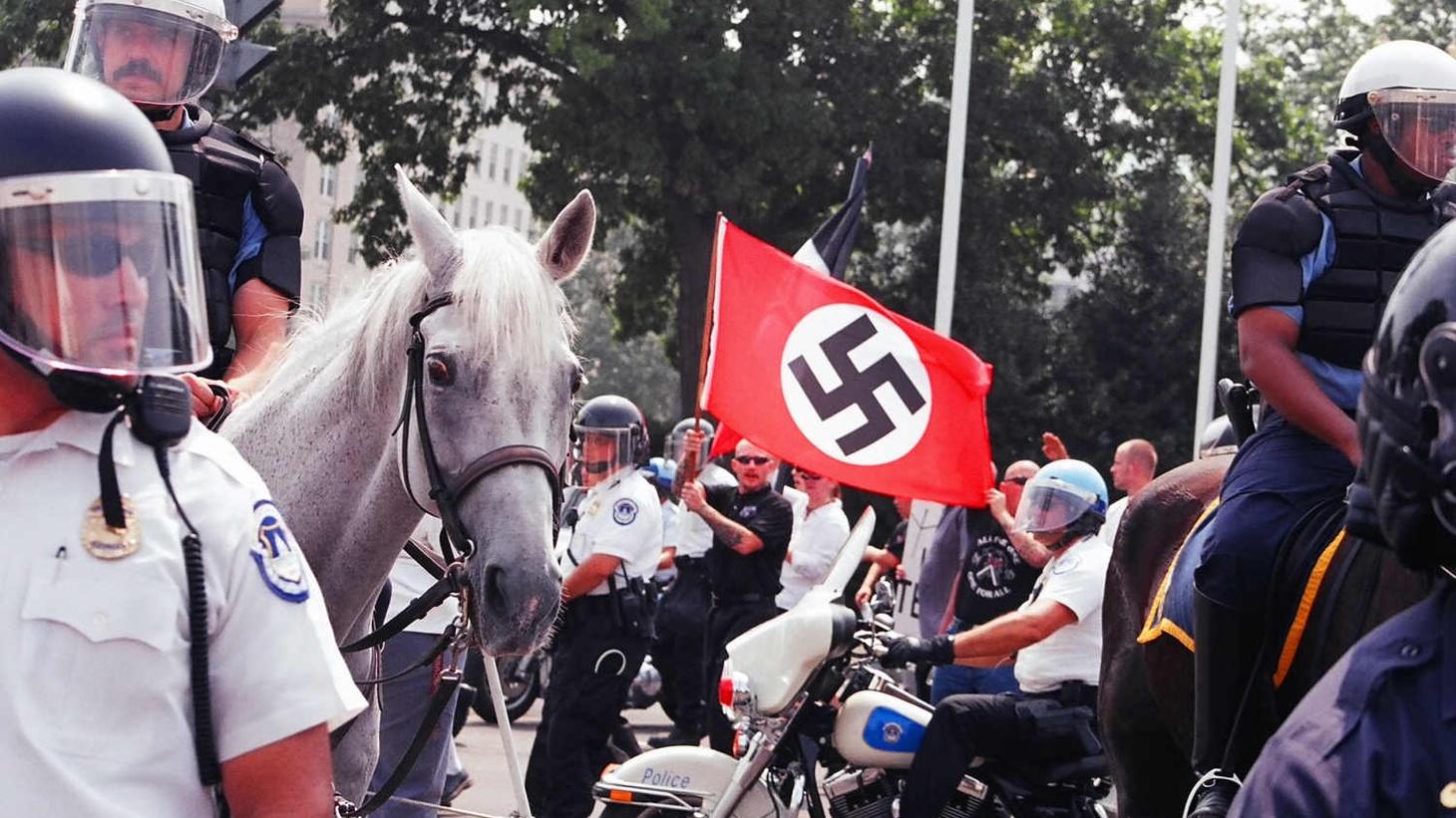 A neo-Nazi rally in Washington DC, 2002.