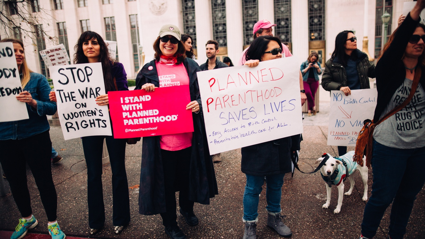 Planned Parenthood rally in Los Angeles, 2017.