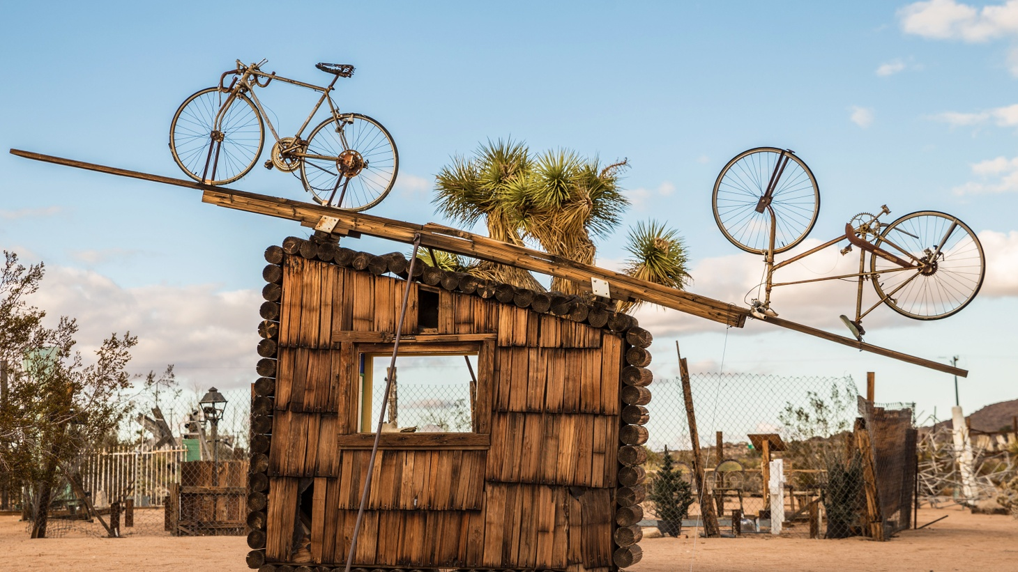 The late artist Noah Purifoy spent the last 15 years of his life in the Mojave desert, creating huge sculptures made of junk. Purifoy was also a big figure in L.A., as a founding director of the Watts Towers Art Center. Before moving to the desert, he was most known for a sculpture constructed from charred debris from the 1965 Watts Rebellion.
