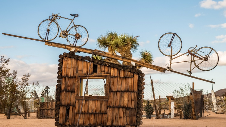 The late artist Noah Purifoy spent the last 15 years of his life in the Mojave desert, creating huge sculptures made of junk.