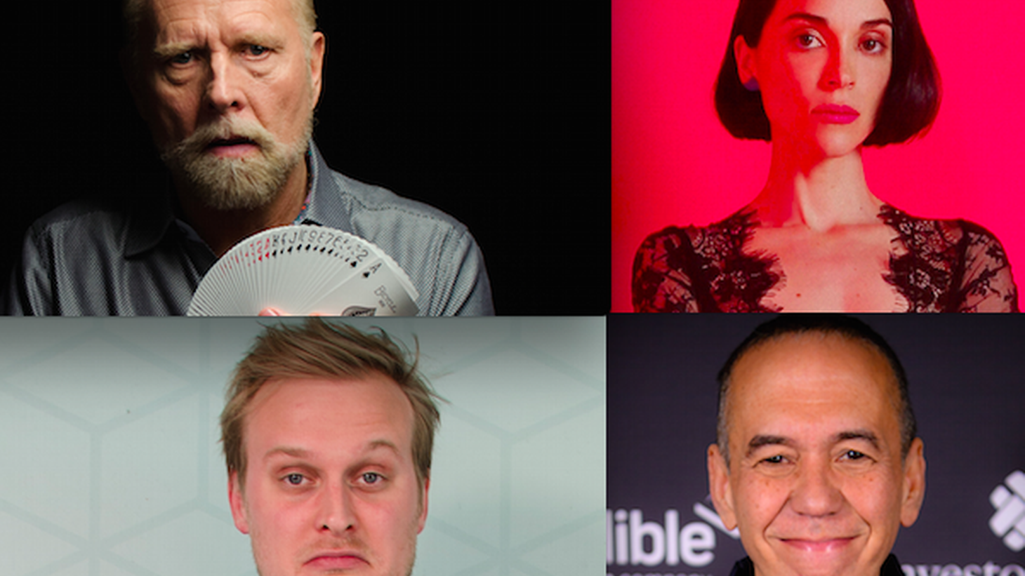 """We present some of the great entertainers we met on the show this year: Blind magician Richard Turner, """"Search Party"""" actor John Early, comedian Gilbert Gottfried, and musician Annie Clark aka St. Vincent."""