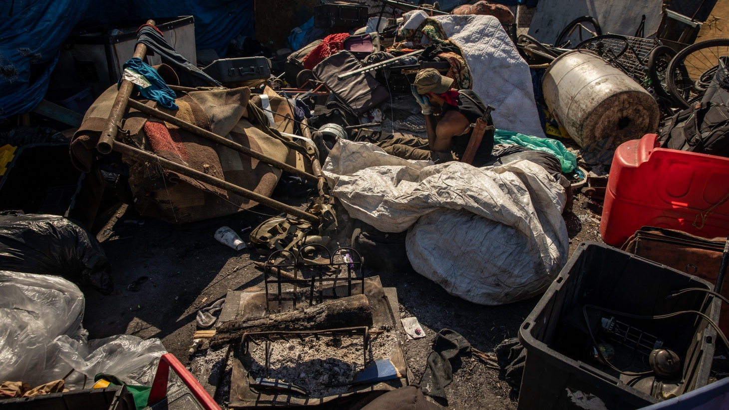 The High Street homeless encampment in Oakland.