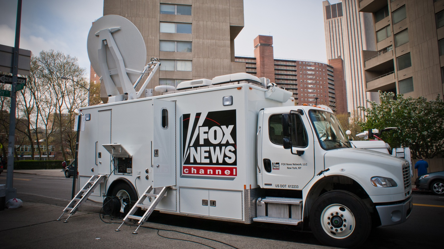Fox News van.