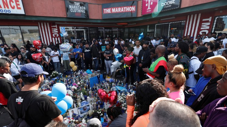Rapper Nipsey Hussle was shot and killed on Sunday outside his South LA clothing store.