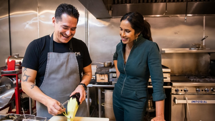 """Top Chef"" host Padma Lakshmi has a new Hulu series called ""Taste the Nation."" Her stories are informed by her identity as an American and an immigrant from India."