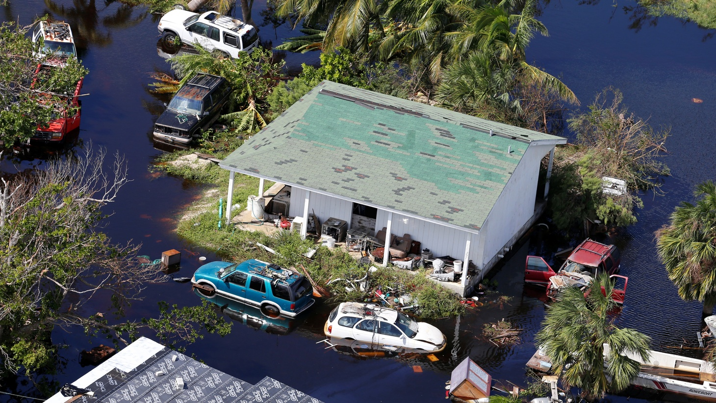 An aerial view shows devastation after hurricane Dorian hit the Grand Bahama Island in the Bahamas, September 4, 2019.