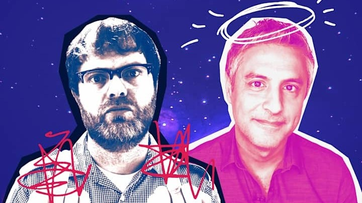"""Actor Rainn Wilson (""""The Office"""") and religious studies scholar Reza Aslan may seem like an unlikely duo, but they share an interest in spirituality, and now they    have a podcast."""