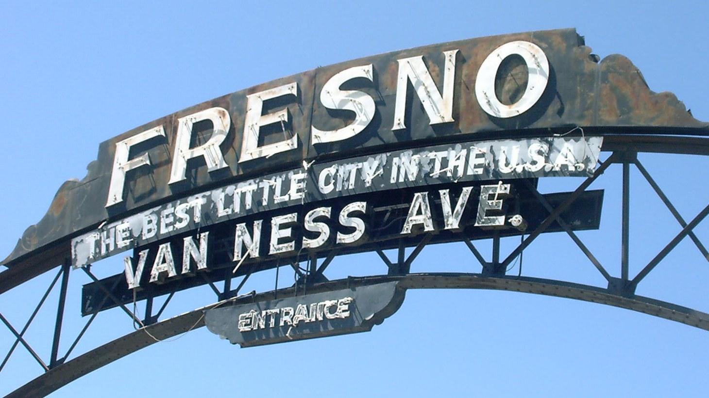 Fresno Arch on Van Ness Avenue.