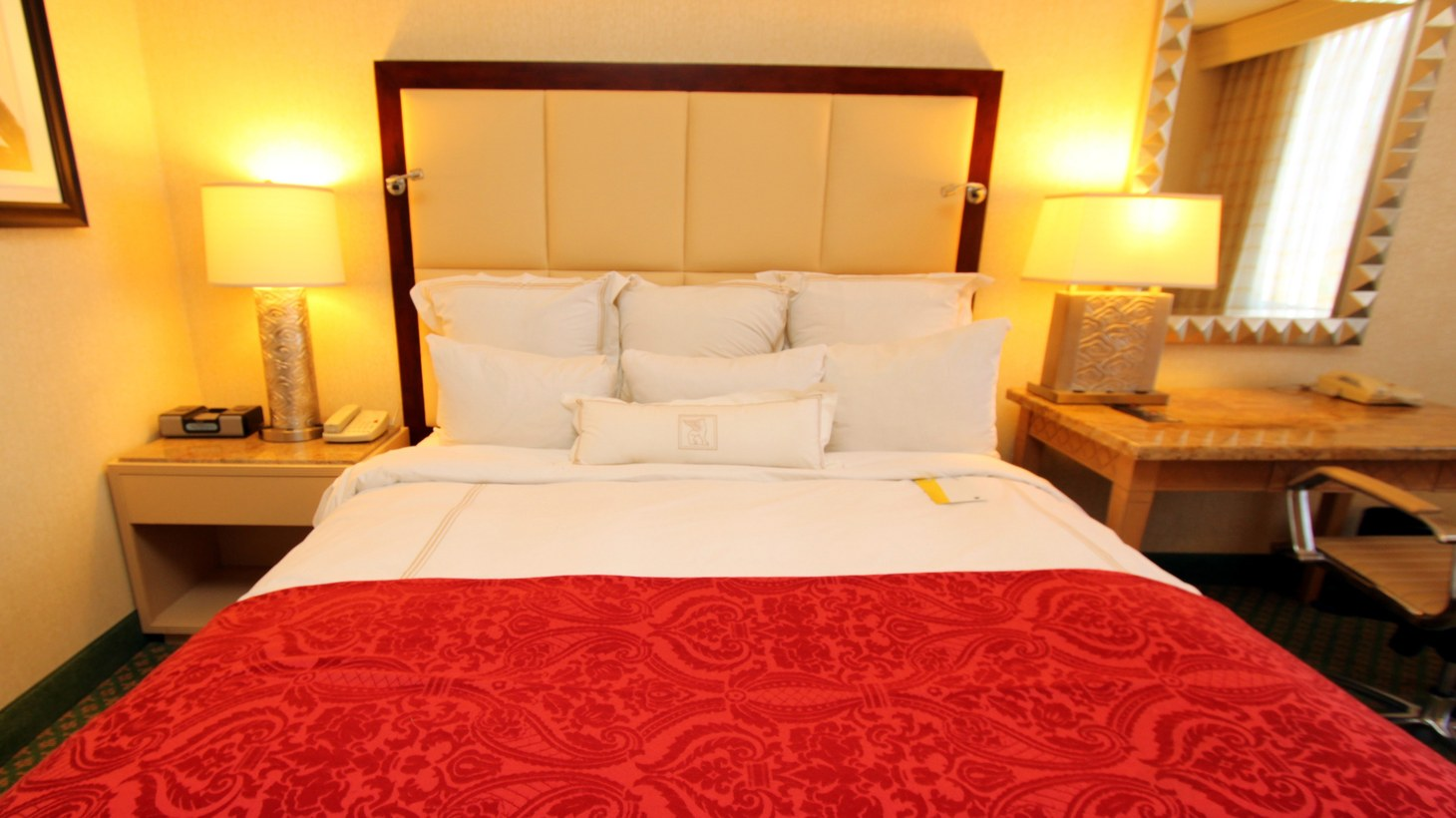 JW Marriott Hotel king bed.