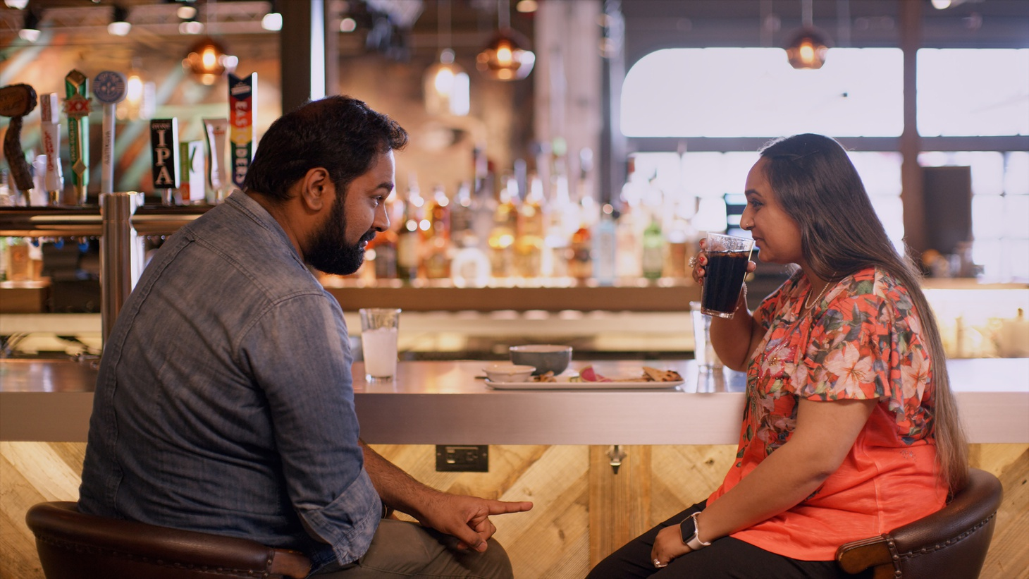 """Vyasar and Rashi Gupta go on a date after being identified as possible matches by Sima Taparia, in episode six of """"Indian Matchmaking."""""""