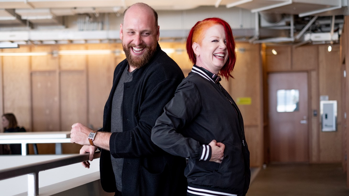 Shirley Manson and Christopher Rountree at KCRW.