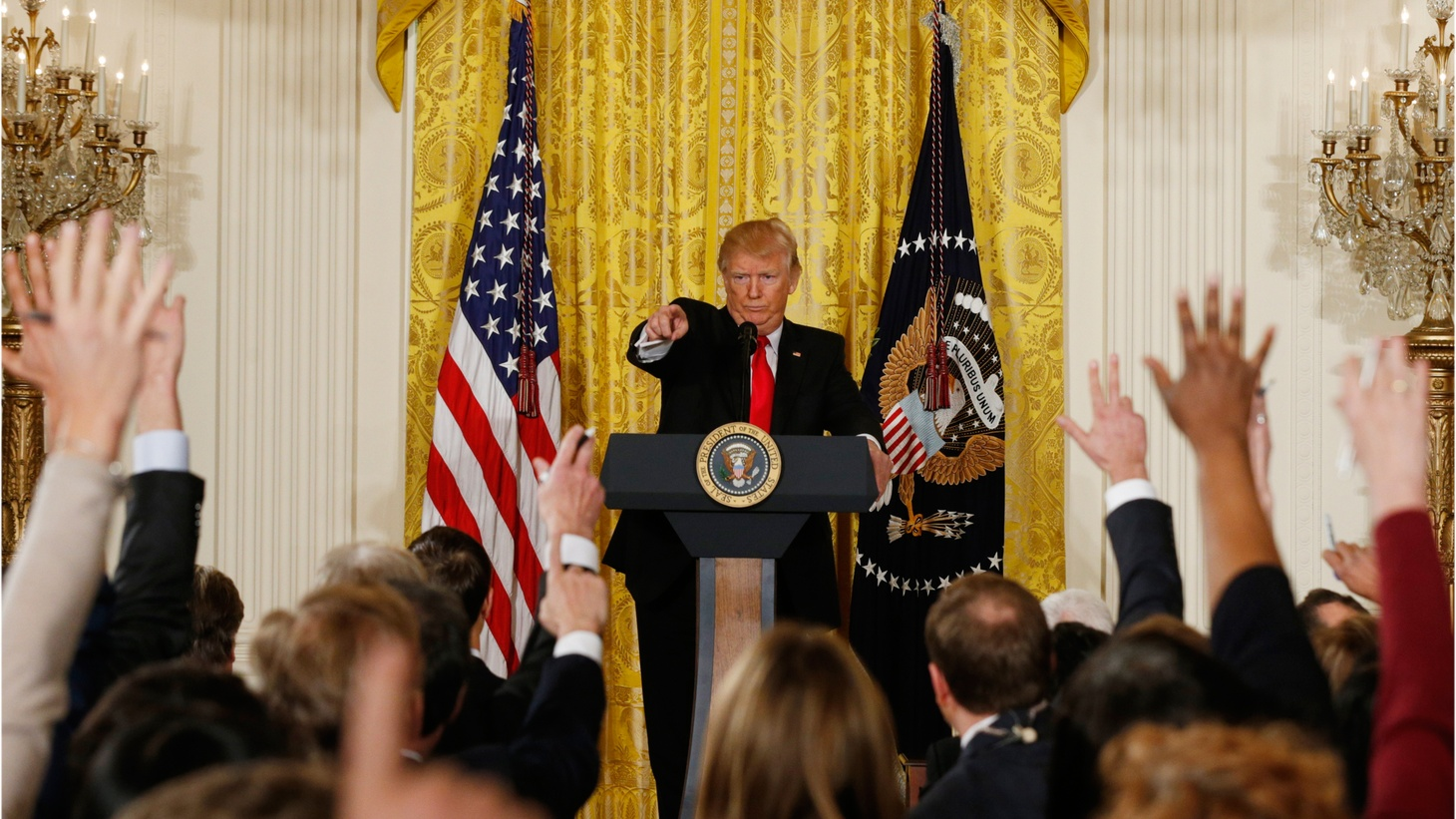 What happens to an executive branch when its bureaucrats routinely undermine it? We also speak with local Trump supporters about their reactions to yesterday's press conference and to the president's first month in office.