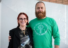 Comedians Megan Mullally and Nick Offerman on their enduring marriage