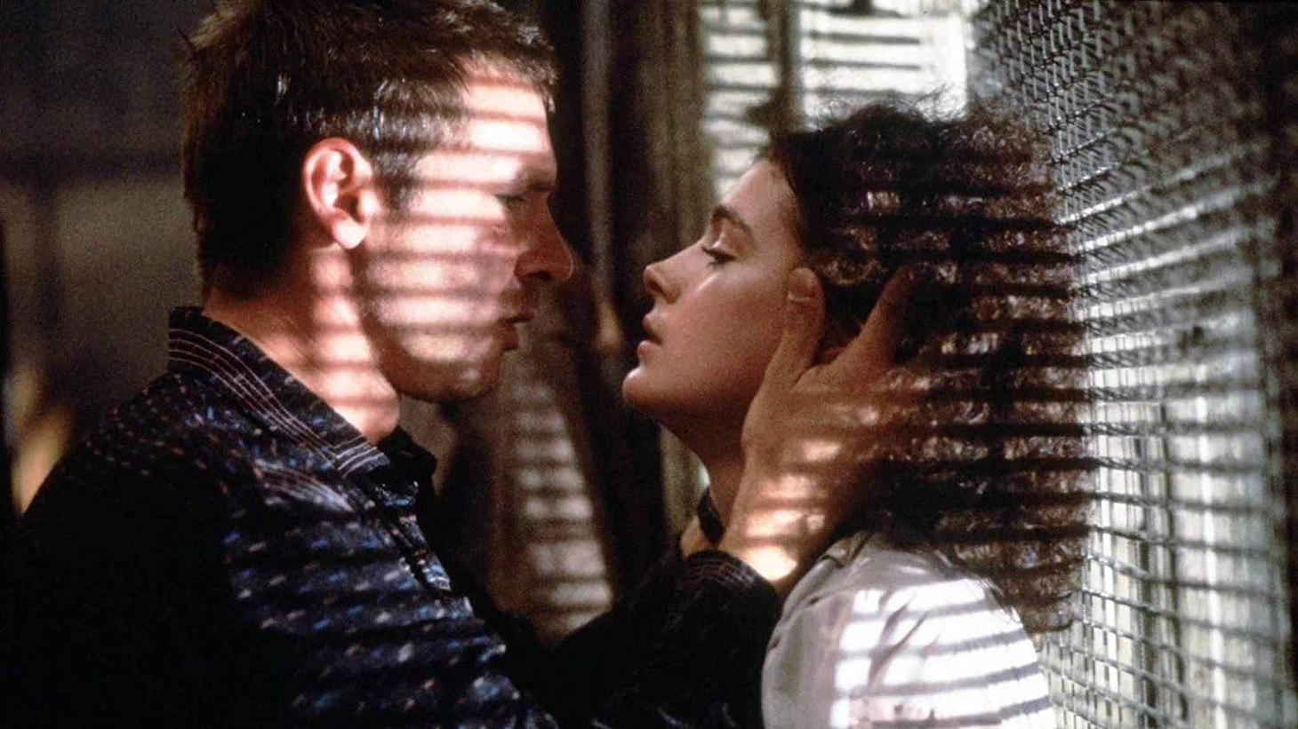 "Harrison Ford and Sean Young in ""Blade Runner."""