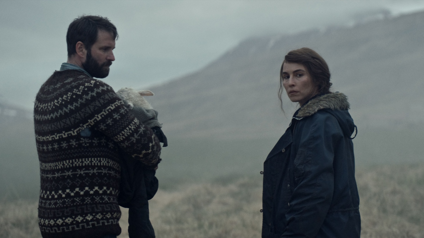 """""""Lamb"""" stars Hilmir Snær Guðnason as Ingvar and Noomi Rapace as Maria — a childless husband and wife who raise a mysterious lamb as their own child."""