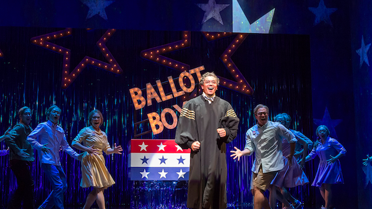 """David Henry Hwang's new theater show """"Soft Power"""" takes place in 2016 Los Angeles and 22nd Century China. It talks about the 2016 presidential election, China's quest for artistic and intellectual influence, and cultural appropriation."""