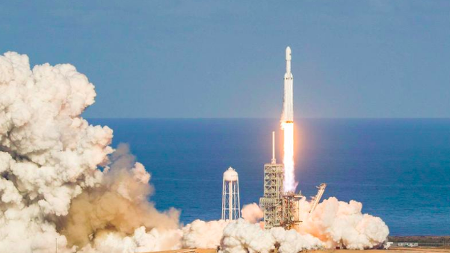 SpaceX launched its Falcon Heavy rocket today from the Kennedy Space Center in Cape Canaveral, Florida. They used a historic launch pad -- the same one that sent Neil Armstrong to the moon.