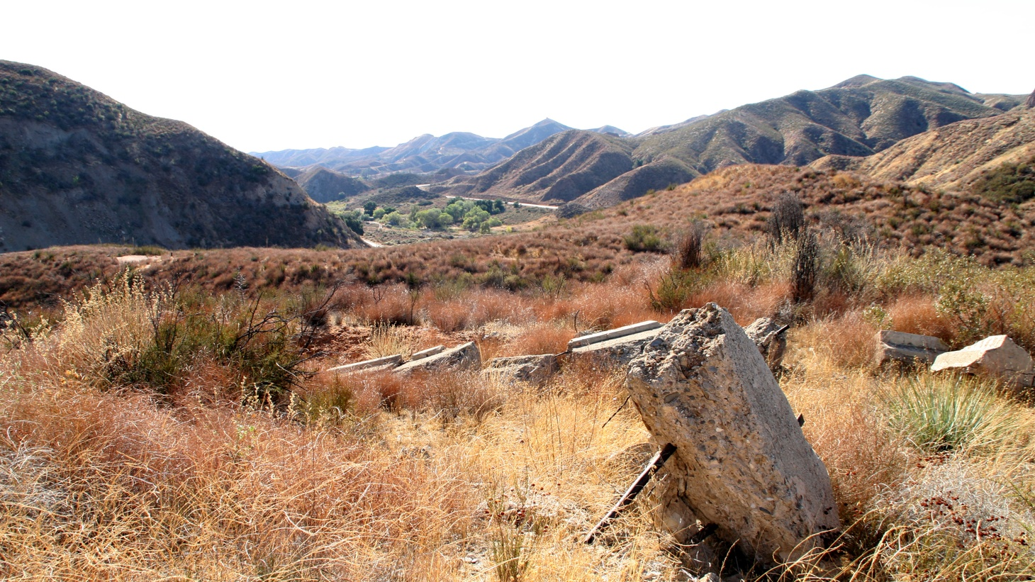 Site of the St. Francis dam in California.
