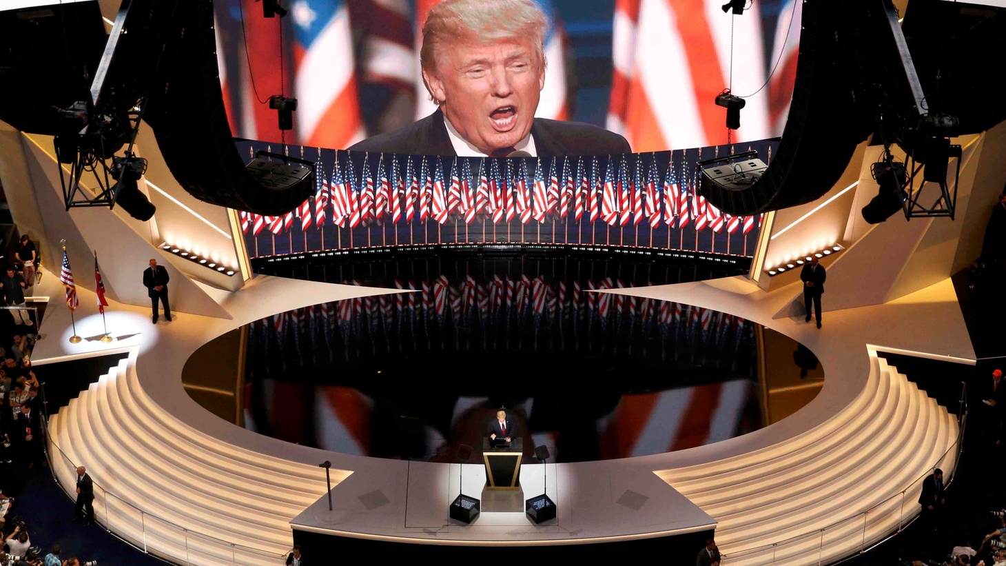 Was Donald Trump's dystopian portrayal of America an effective way of pulling more voters into his camp? And on the subject of fear, a discussion with an LAPD captain about the rise in crime in Los Angeles and what's behind it.