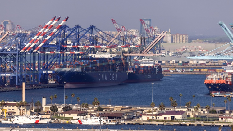 President Biden announced today that the Port of Los Angeles is going to operate around-the-clock to try to ease some of the supply chain issues.