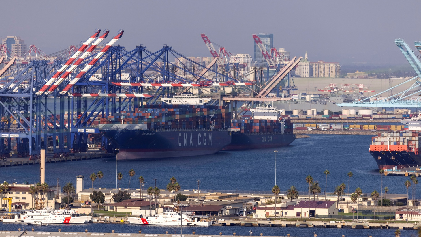 The congested Port of Los Angeles is shown in San Pedro, California, U.S., September 29, 2021.