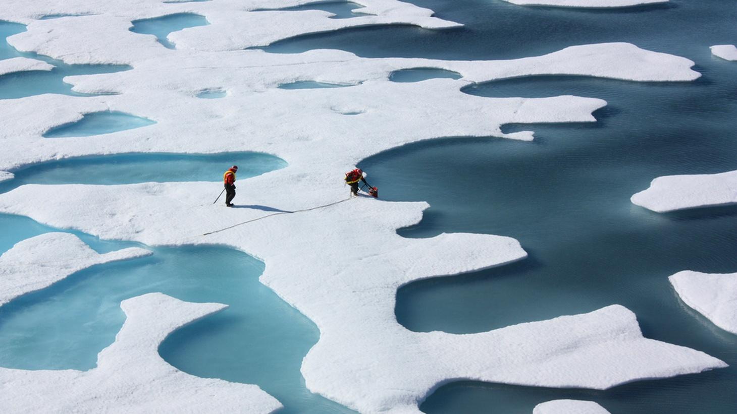 Melting polar ice caps, Arctic Circle.