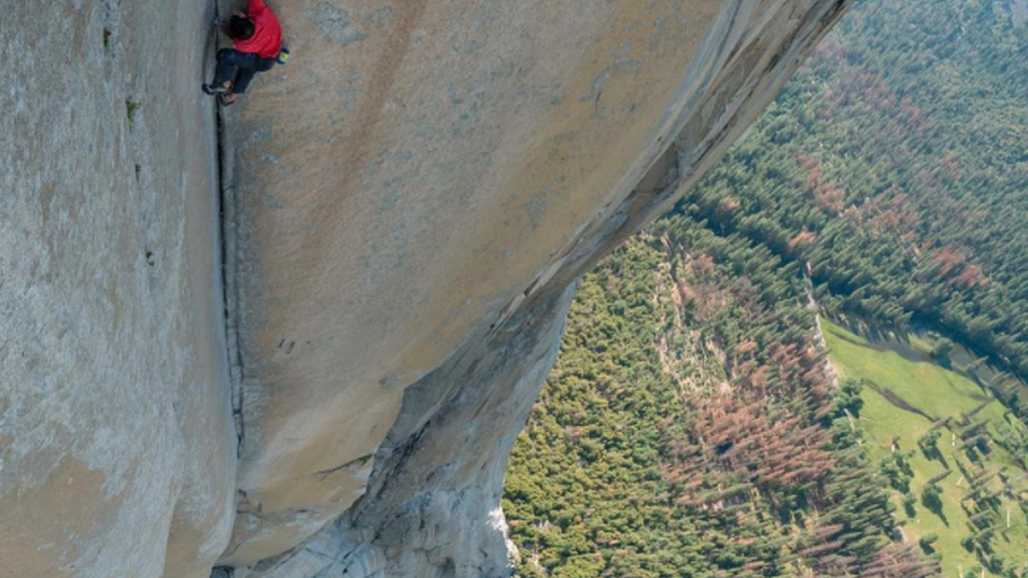 Alex Honnold was whistling as he scaled the 3000 foot granite monolith of Yosemite's El Capitan. He did it with just climbing shoes, a bag of chalk, and his bare hands. It took him less than four hours to reach the top. He's the first person in the world to do it without any ropes.