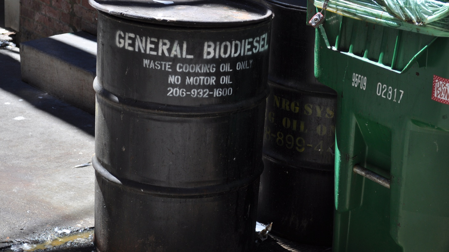 Since people have started taking greasy stuff out of the fryer and putting it in their biodiesel cars, the value of all that used oil has gone up, and stealing it has become a lucrative crime. The story of modern day cooking-oil rustling.